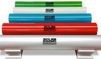Solar Raceway Wire Management System Powder Coat Colors